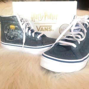 Harry Potter Hogwarts Metallic Vans  sz 1.5